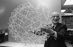 Buckminster Fuller and his tensegrity sphere, AP Photo/Bill Ingraham