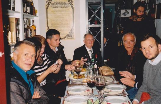 My 70th with Italian friends at Palermo, working at Il Massimo. And Graham Vick's hands…